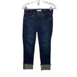 LOFT Modern Straight Fit Cuffed Jeans Sz 25P